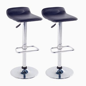 Chrome Bar Stools, 1980s, Set of 2