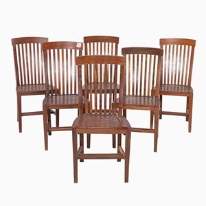 Mid-Century Portuguese Dining Chairs from Olaio, Set of 6