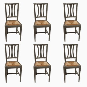 Antique Venetian Side Chairs, Set of 6