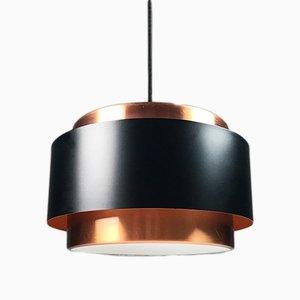 Lámpara colgante Saturn Mid-Century de cobre de Jo Hammerborg para Fog & Mørup, 1963