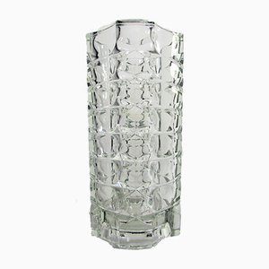 French Geometric Crystal Glass Vase from Luminarc, 1970s