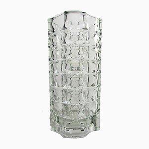 Geometrische französische Vase aus Kristallglas von Luminarc, 1970er