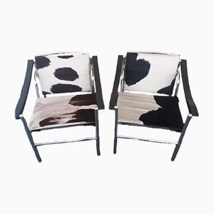 LC1 Armchairs by Le Corbusier for Cassina, 1970s, Set of 2