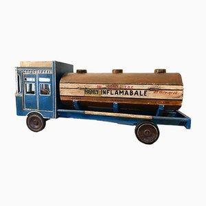 Autocarro giocattolo Folk Art vintage blu, anni '80