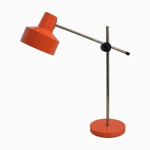 Orangene Mid-Century Tischlampe, 1960er