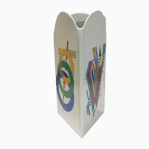 Jarrón de cerámica de Marcello Morandini para Rosenthal, años 80