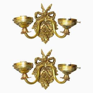 Wandlampen im Empire-Stil, 1920er, 2er Set