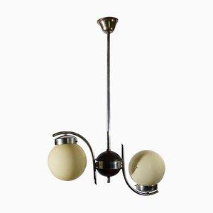 Art Deco Deckenlampe mit 2 Kugelleuchten