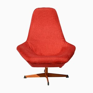 Vintage Swedish Swivel Chair by Dahléns Dalum for Fåtöljindustri AB, 1960s