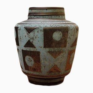 Graphitgraue westdeutsche Mid-Century Vase von Carstens, 1950er