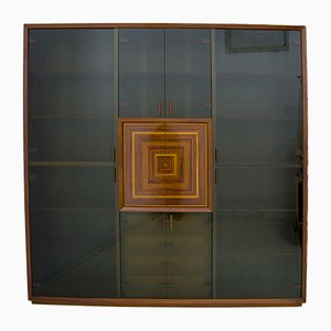 Italian Inlaid Cabinet by Luciano Frigerio, 1980s