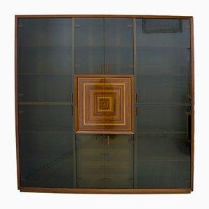 Mueble italiano con incrustaciones de Luciano Frigerio, años 80