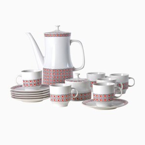 Czechoslovakian Porcelain Coffee Set, 1960s