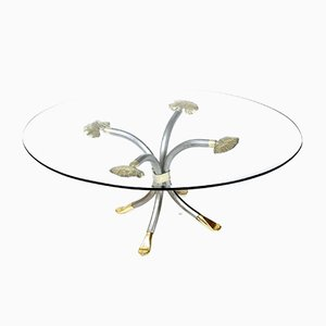Brass & Forged Metal Coffee Table by Manfred Bredohl, 1970s
