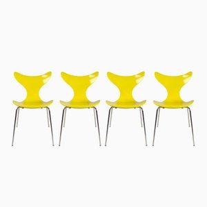 Chaises de Salle à Manger FH3108 par Arne Jacobsen pour Fritz Hansen, Danemark, 1974, Set de 4