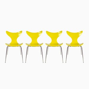 Danish FH3108 Dining Chairs by Arne Jacobsen for Fritz Hansen, 1974, Set of 4