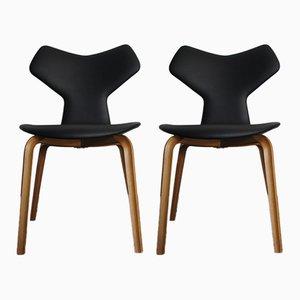 Chaises d'Appoint Grand Prix par Arne Jacobsen pour Fritz Hansen, 1980s, Set de 2