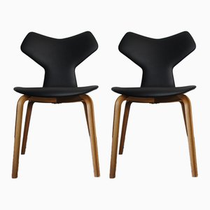 Grand Prix Side Chairs by Arne Jacobsen for Fritz Hansen, 1980s, Set of 2