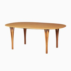 Danish Super Ellipse Lounge Table by Piet Hein & Bruno Mathsson for Fritz Hansen, 1950s