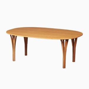 Danish Super Ellipse Lounge Table by Piet Hein & Bruno Mathsson for Fritz Hansen, 1950s