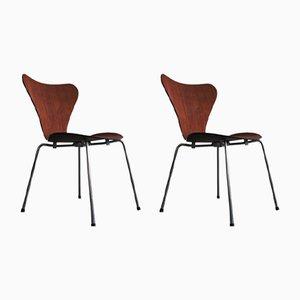 Sedie da pranzo di Arne Jacobsen per Fritz Hansen, 1965, set di 2