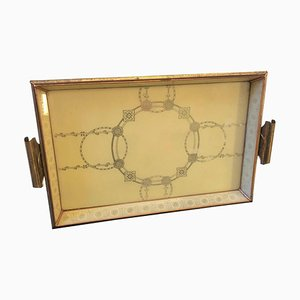 Mid-Century Italian Copper & Brass Serving Tray from MB, 1950s