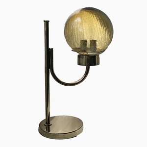 Scandinavian Brass Table Lamp from Bergboms, 1960s