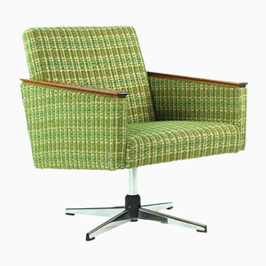 Green Swivel Chair from Drevoimpregna, 1960s
