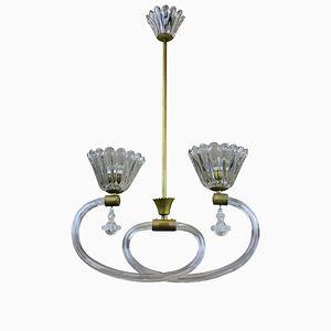 Italienische Vintage Deckenlampe von Barovier & Toso, 1950er