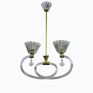 Vintage Italian Ceiling Light from Barovier & Toso, 1950s