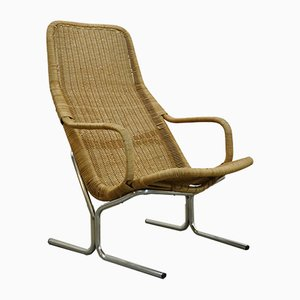 Vintage Modell 514C Armlehnstuhl aus Rattan von Dirk Van Sliedregt für Gebroeders Jonkers, 1960er