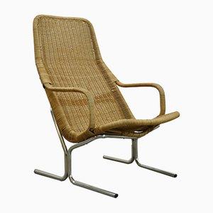 Vintage Rattan Model 514C Armchair by Dirk Van Sliedregt for Gebroeders Jonkers, 1960s