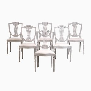 Art Nouveau Swedish Dining Chairs, Set of 6