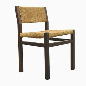 Wengé & Wicker Dining Chairs by Martin Visser & Walter Antonis for 't Spectrum, 1970s, Set of 6
