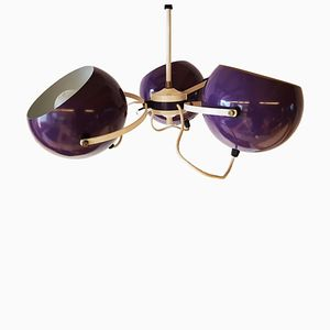 Vintage Purple Hanging Lamp