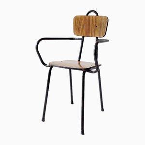 Chaise d'Enfant Vintage en Formica et Fer, 1960s