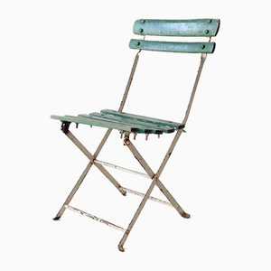 Vintage French Wooden Folding Chair, 1920s