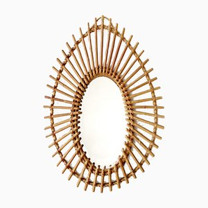 Mid-Century French Bamboo Mirror, 1960s