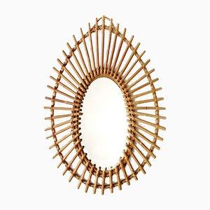 Mid-Century French Bamboo Mirror, 1960s