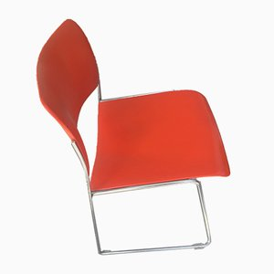 Model 40/4 Orange Metal Dining Chair by David Rowland for GF, 1973