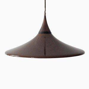 Vintage Brown Methacrylate Ceiling Lamp, 1960s