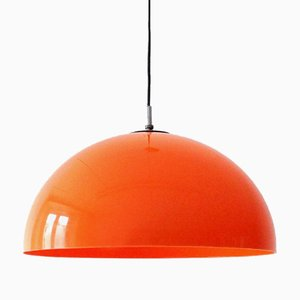 Vintage French Orange Ceiling Lamp, 1970s