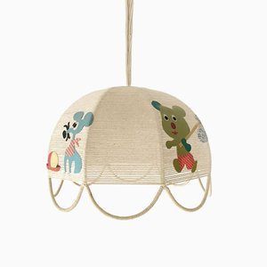Vintage French Children's Ceiling Lamp, 1970s