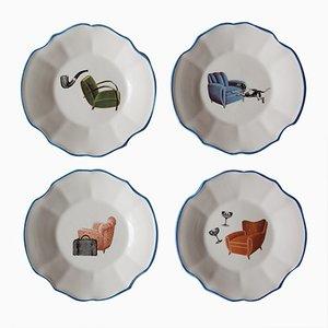 Sogni Dessertteller von PiattoUnico, 4er Set