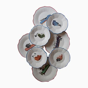 Sogni Dinner Plates from PiattoUnico, Set of 4