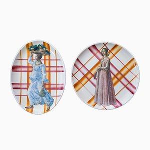 Piatti Due Grazie in ceramica di PiattoUnico, set di 2