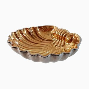 Cuenco vintage grande en forma de concha de cerámica de San Marco