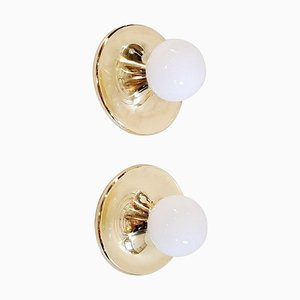 Vintage Flush Mount Wall Sconces by Achille & Pier Giacomo Castiglioni for Flos Italy, Set of 2