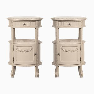 Antique Louis XVI Bedside Tables, Set of 2