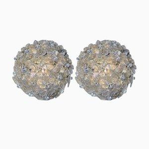 Applique con inserti in polvere dorata di Barovier & Toso, anni '50, set di 2